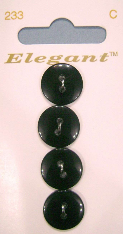 "Пуговицы ""Elegant""   5/8'' (16mm.) Black ."
