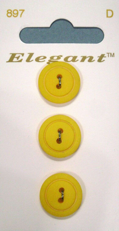 "Пуговицы ""Elegant""   16 мм, 3 шт Yellow 2-Hole ."