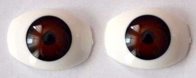 303566 Doll  Eyes Brown 11 mm